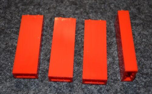 4 NEW Parts 1x2x5 Red  Column Lego Bricks