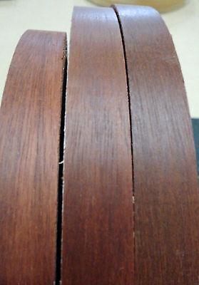 """Teak polyester edgebanding 1/"""" x 120/"""" with preglued hot melt adhesive iron on"""
