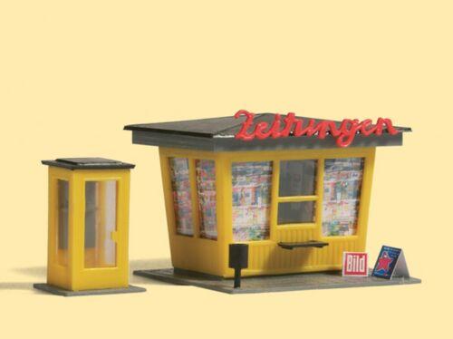 Auhagen 12340 sanoademás con cabina telefónica nuevo en OVP