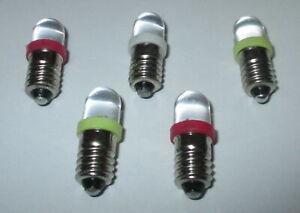 LED Schraubbirne für Fassung E10 3,5-4,5Volt NEU gelb