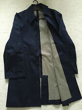 """Paul Smith """"PS"""" COLLECTION Rain Coat / Mac Size L Pit to Pit 23"""" NAVY BLUE"""