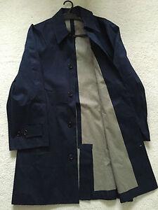 Paul-Smith-034-PS-034-Coleccion-Capa-de-Lluvia-Mac-Talla-L-hoyo-a-hoyo-23-034-Azul-Marino