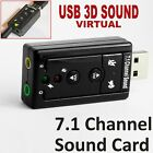USB 2.0 External Audio Sound Card Adapter 3D Virtual 7.1CH Win7 8 Linux Mac OS