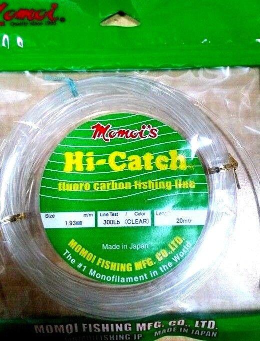 Momoi Hi-Catch Fluoroautobon leader 20m 20m 20m 300lb gioco leader line rigs marlin tuna faa