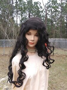 Image is loading Lacey-Costume-Wig-Brown-Southern-Belle-New-Orleans 2225fd023843