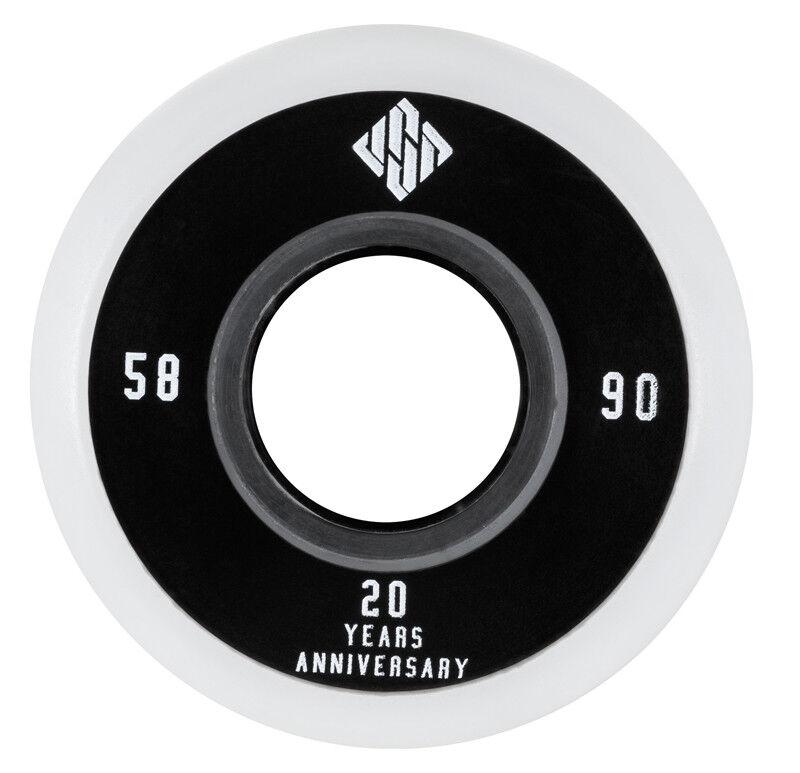 4 USD 90A Team Wheels Stunt Skate Rollen 58mm 90A USD NEU 260394