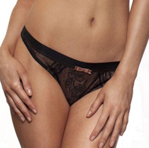 NOUVEAU Gossard Ooh La La pour femme dentelle string noir Black UK Gratuit p/&p RRP £ 12 5736