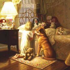 "BEDTIME PRAYER 500 Piece Jigsaw Puzzle Christian Gift 19""x19"" Dog teddy bear"