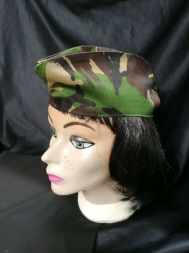 Army Style Side Cap Hat ladies Mens Fancy Dress Military Camouflage