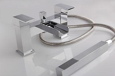 WATERFALL BATHROOM TAP - BATH FILLER SHOWER MIXER MONO BASIN MIXER & WASTE