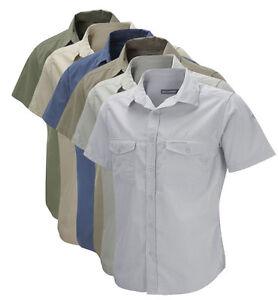 Craghoppers-Mens-Kiwi-Short-Sleeve-Travel-Shirt-Walking-Hiking-Nosi-Defence