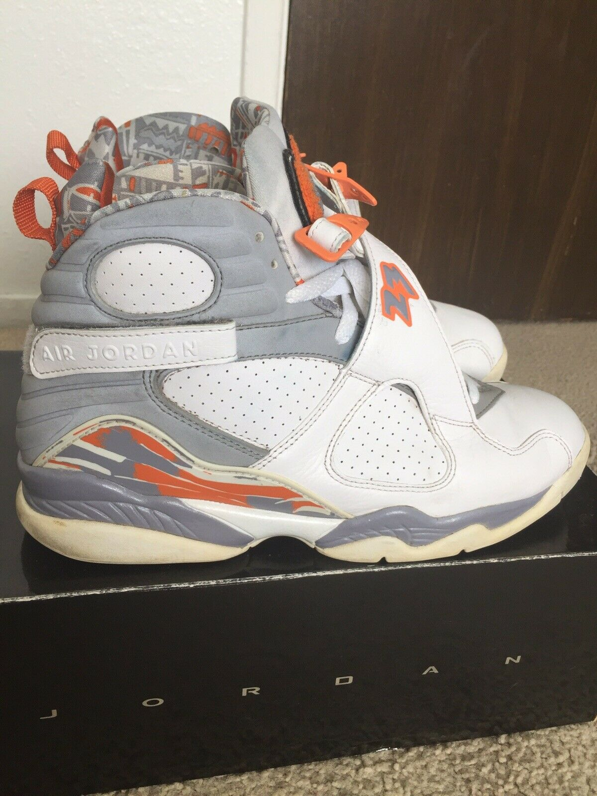 Nike Air Jordan 8 VIII Stealth orange Mens sz 10