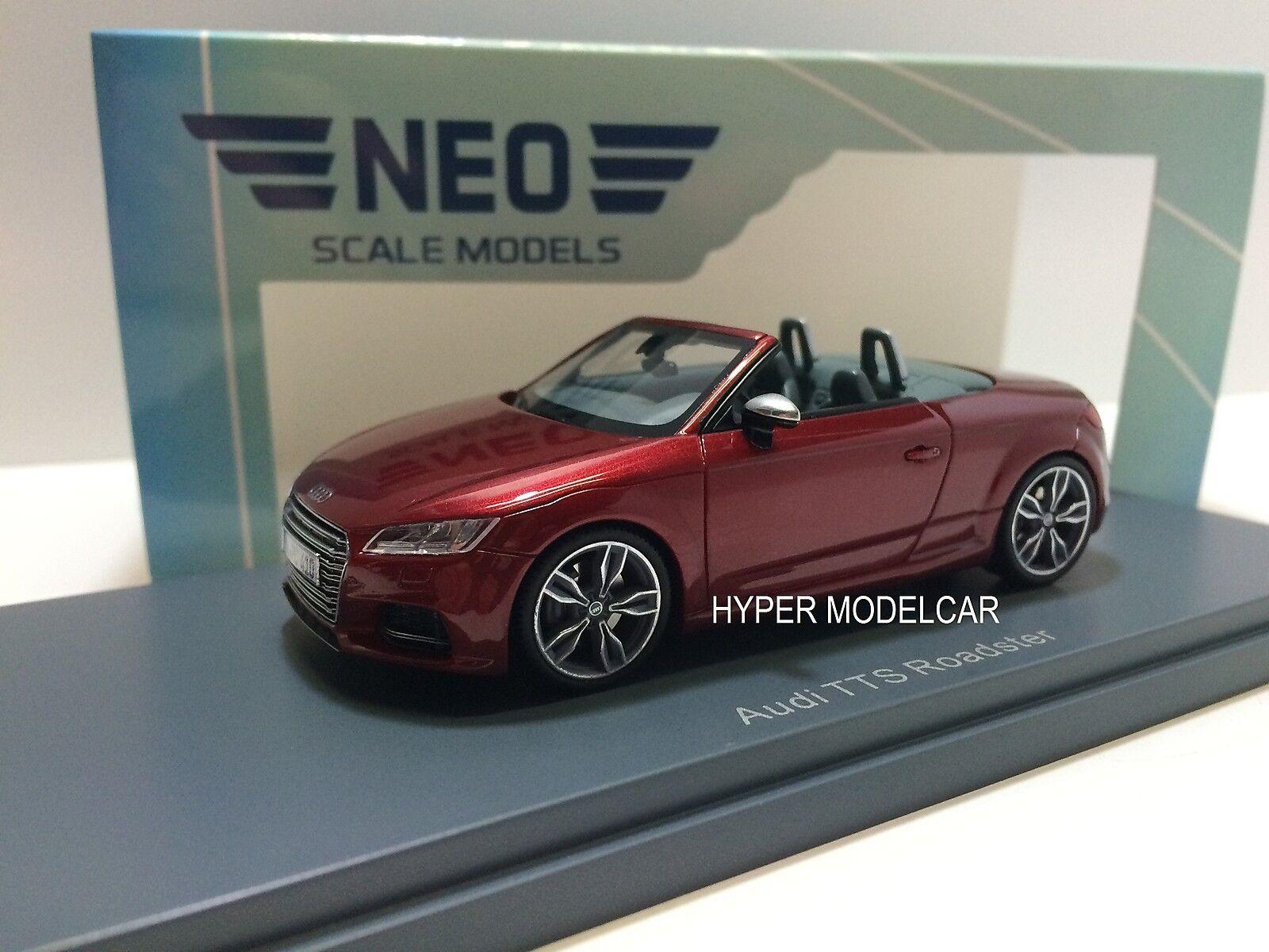 NEO SCALE MODEL 1 43 Audi TTS Roadster Cabriolet 2014 rosso Met. Art. 46410