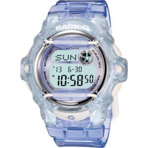 Casio-Baby-G-BG-169R-6-Transparent-Lilac-Women-039-s-and-Girls-Digital-Sports-Watch