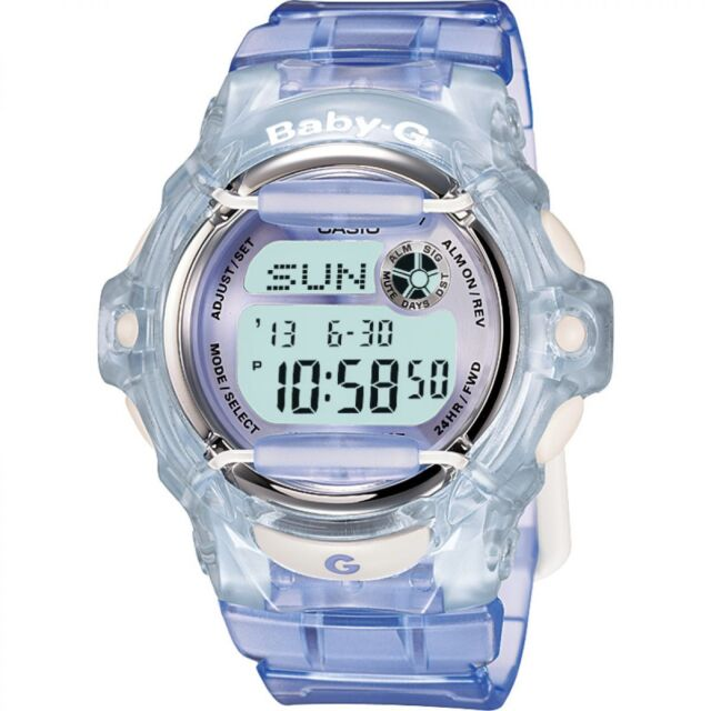 Casio Baby-G BG-169R-6 Transparent Lilac Women's and Girls Digital Sports Watch