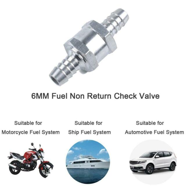 4 Pack ZET 6mm 1//4 Fuel Non Return One Way Check Valve Aluminium for Oil Petrol Diesel Water