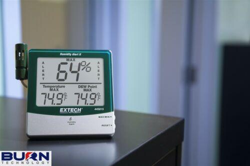 Extech Humidité Alerte-point de rosée /& Moule Avertissement /% HR High Low Alarm 445815