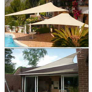 12 Triangle Sun Shade Sail Uv Top Outdoor Canopy Patio Lawn