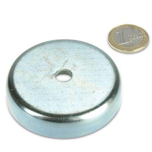 Topfmagnet Neodym Flachgreifer Ø 60,0 x 15,0 mm mit Senkung hält 130 kg