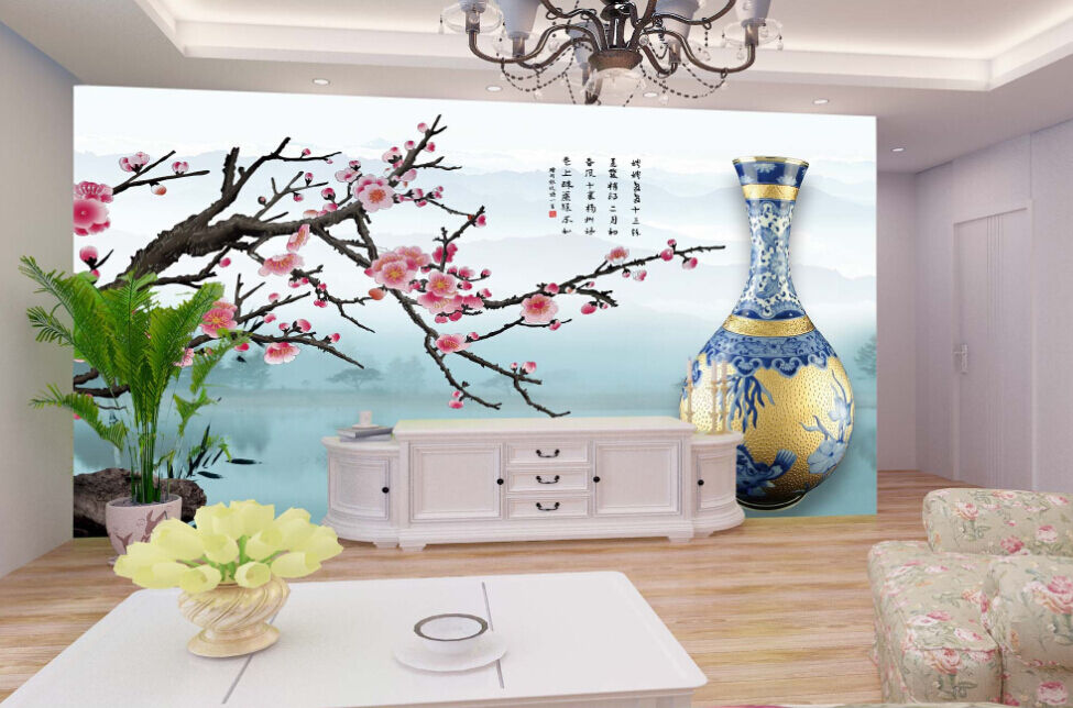 3D  Vasen, Blaumen 76878 Fototapeten Wandbild Fototapete BildTapete Familie DE