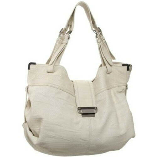 Kooba Natasha Convertible Leather Tote Shoulder Bag Purse Ivory