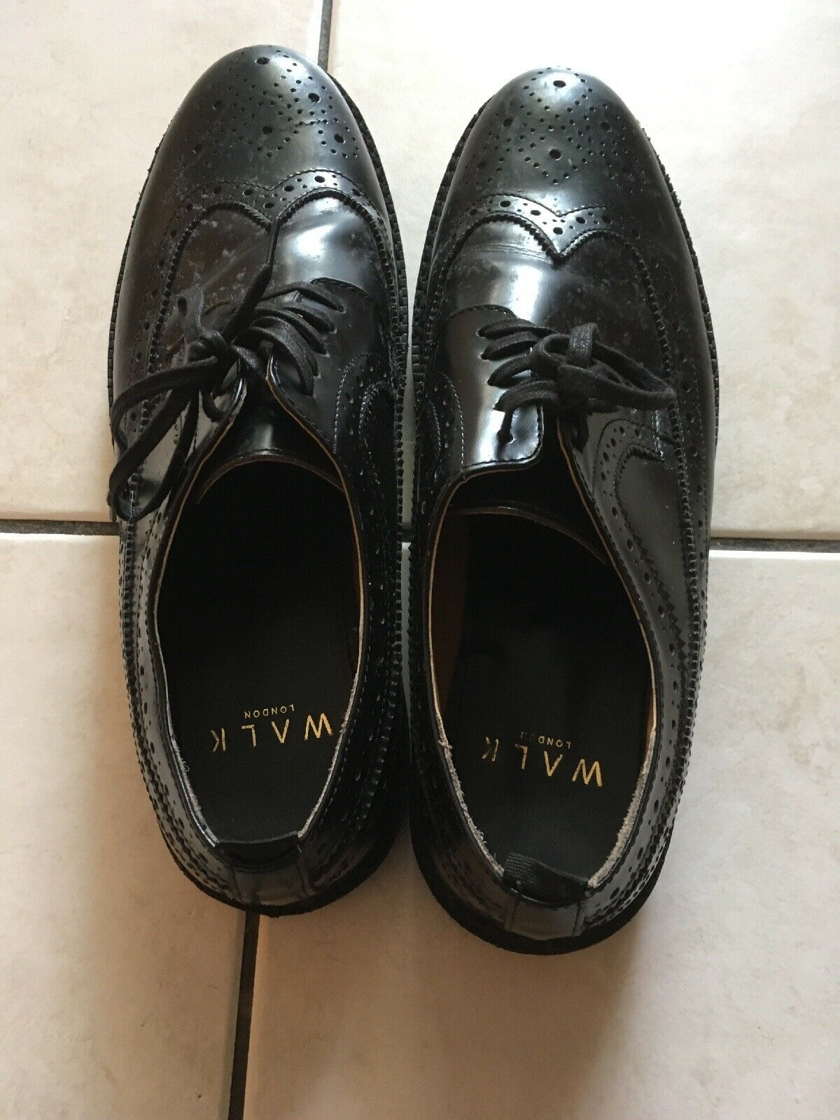 Walk London Timmy Brogue With Wedge Sole