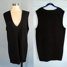 PREVIEW 100% Pure Merino Wool Heavy Jumper Sleeveless Tunic Sweater Dress XL