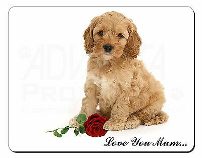 """Cockerpoodle + Rose """"love You Mum' Computer Tappetino Mouse Regalo Di Natale, Ad-cp6rlymm-ose 'love You Mum' Computer Mouse Mat Christmas Gift , Ad-cp6rlymm"""" Data-mtsrclang=""""it-it"""" Href=""""#"""" Onclick=""""return False;""""> Irrestringibile"""