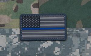Details about MSM Milspec Monkey PVC Morale Patch - USA US Flag Thin Blue  Line Law LE - URBAN