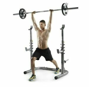 Golds Gym XRS20 Squat Rack Weight Lifting Bench Military Press Exercise Workout
