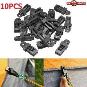 5//10//20Pcs Reusable Tent Tarp Clip Snap Clamp Buckle Camping  Survival Tool