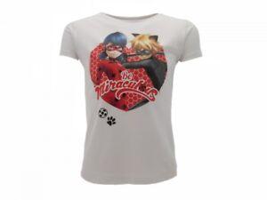 T-shirt-Originale-Miraculous-Ladybug-Chat-Noir-Ufficiale-bianca-Maglia-Lady-Bug