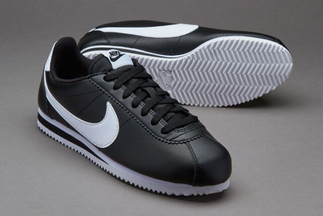 8d36212c69cf WMNS Nike Classic Cortez Leather Black White Women Casual Shoes 807471-010  10