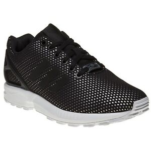 NUOVA linea donna Adidas Black Gold ZX Flux Scarpe da ginnastica in nylon stampe Stringati