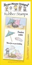 Joanna Sheen HOUSE MOUSE DESIGNS SUMMER Unmounted Rubber Stamps DRINKS JSHM013