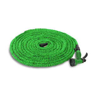 Image is loading Latex-25-50-75-100-FT-Expanding-Flexible-  sc 1 st  eBay & Latex 25 50 75 100 FT Expanding Flexible Garden Water Hose with ...