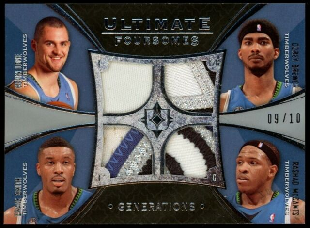 2008-09 Kevin Love Craig Smith Brewer McCants Ultimate Patch 9/10 T-Wolves RC