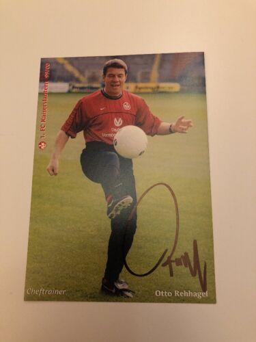 2000 1 signiert 1999 Autogrammkarte Otto Rehhagel Org FC Kaiserslautern