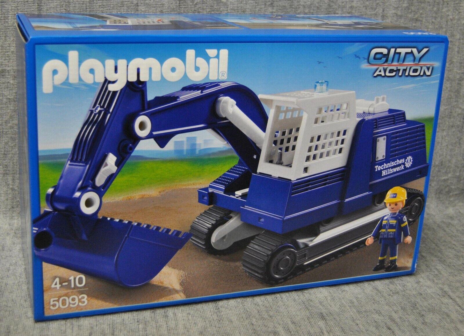 Playmobil 5093  THW Excavateurs Chaînes Excavateurs construction versés city action NEUF  prix bas tous les jours