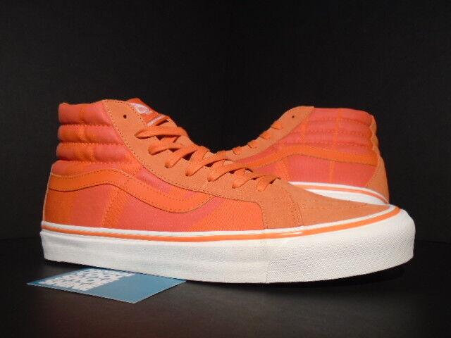 VANS OG SK8-HI LX UNDEFEATED UNDFTD LOGO SAFETY orange WHITE FOG VN0A36C7PQ8 11