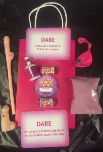 PACKED WITH FUN ITEMS BUDGET HEN NIGHT PARTY GIFT BAGS,FILLED WITH 10 ITEMS