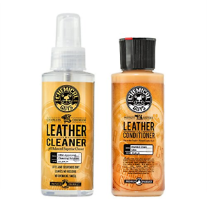 Chemical Guys Leather Cleaner and Conditioner Complete Leather Care Kit 4 Ounce