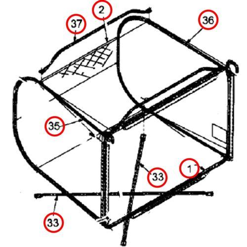 Ersatzteile Fangkorb Raiffeisen RMH 12-76 12.5-76 7125-76 T Gartenland GL 125 T