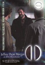 Supernatural Season 1 Jeffrey Dean Morgan / John Wincheste PW7 Pieceworks Card