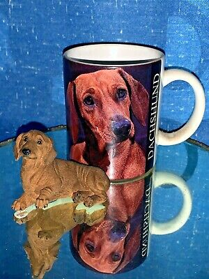 Vintage Dachshund Red Miniature Figurine Statue Coffee Mug Set Of 2 Sj3j Ebay