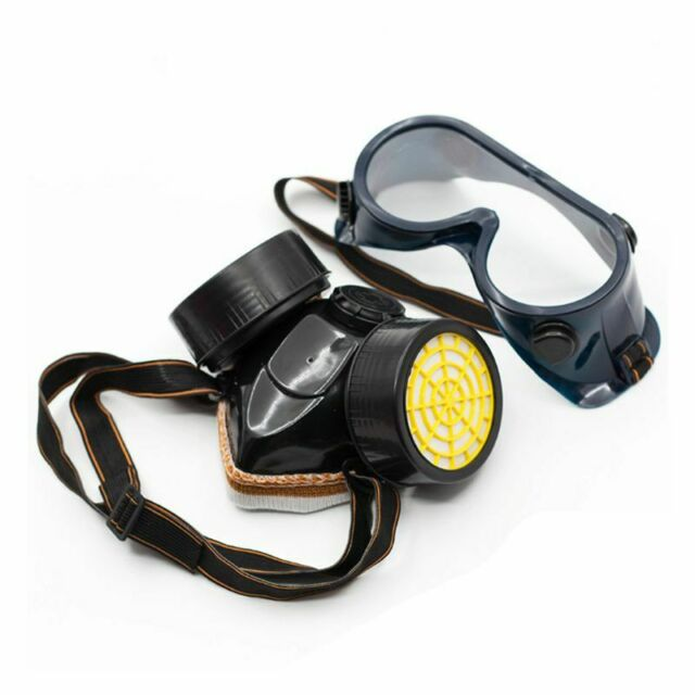 Eye Goggles for Gas Chemical Anti Dust Paint Guard Industrial Respirator Mask