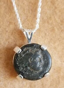 Details about Alexander The Great Authentic Ancient Greek Coin Pendant 925  Silver Necklace