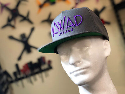 FPV Kwad Pilot Snapback Hat Quadcopter Drone Racing Cap Embroidery 3d Puff