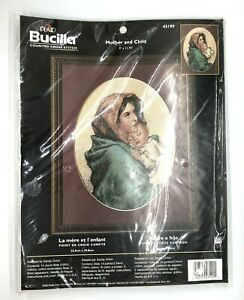 Bucilla-Counted-Cross-Stitch-Mother-and-Child-43199-9-x-11-75-NIP-VTG-2002