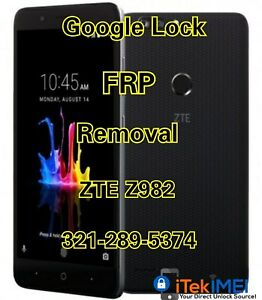 Details about ZTE Blade Z Max Z982 Google Account Removal Bypass/Unlock,  Reset FRP ☆Remotely☆